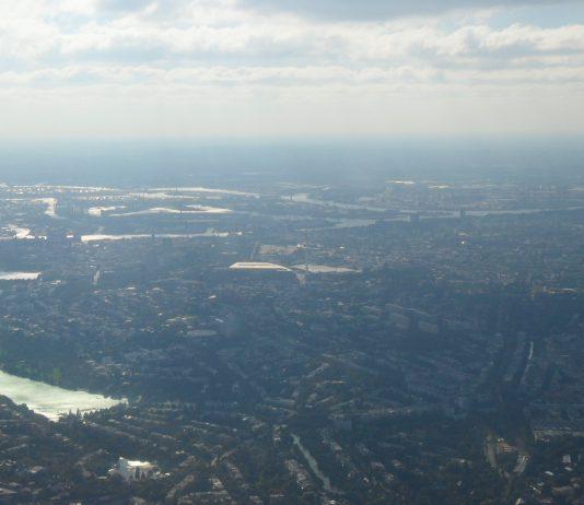 Birdseye view, Hamburg, Lake Alster