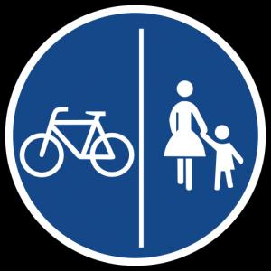 getrennter Radweg
