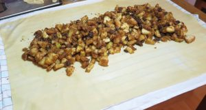 Distribute the filling evenly